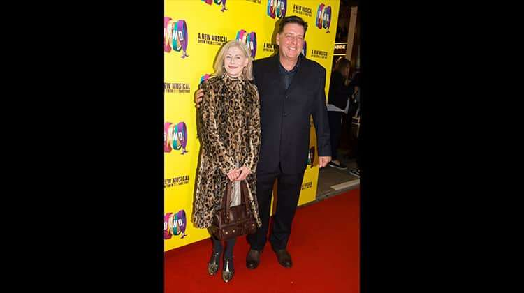 Andrew Dunn with wife Andrina Caroll at the press night for The Band, credit Phil Treagus