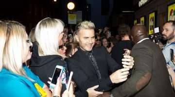Gary Barlow at the press night for The Band, credit Phil Treagus