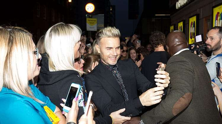 Gary Barlow at the press night for The Band, credit Phil Treagus | Photo flash: opening night at The Band