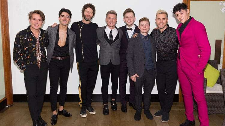 Take That with Five To Five at the press night for The Band, credit Phil Treagus | Photo flash: opening night at The Band