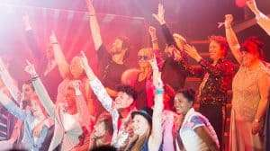 Lulu, Take That and the cast on stage at the press night for The Band, credit Phil Treagus (3)