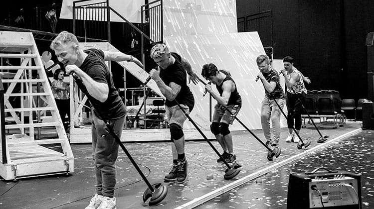 In rehearsals for The Band, credit Matt Crockett