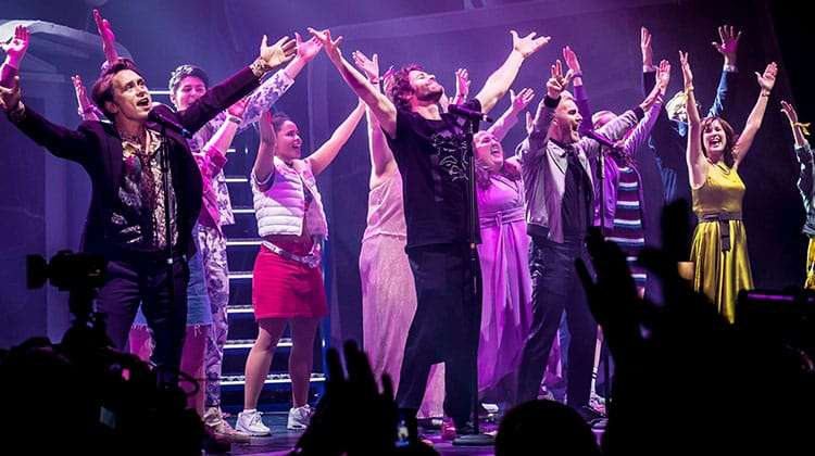 | Take That give surprise performance at new musical The Band