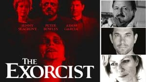 Peter Bowles, Jenny Seagrove and Adam Garcia in The Exorcist - Phoenix Theatre, London