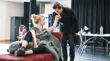 Natalie Dormer & David Oakes in rehearsal for Venus In Fur