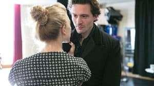 Natalie Dormer & David Oakes in rehearsal for Venus In Fur