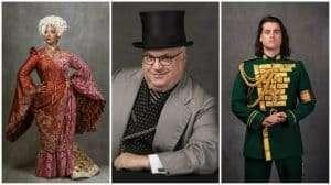 Melanie La Barrie (Madame Morrible), Andy Hockley (The Wizard) & Bradley Jaden (Fiyero)