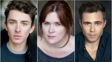 Matthew Beard, Rory Keenan & Jessica Regan