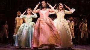 l-r Rachelle Ann Go (Eliza), Rachel John (Angelica) and Christine Allado (Peggy) - The Schuyler Sisters - Photo Credit Matthew Murphy