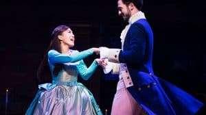 l-r Rachelle Ann Go (Eliza Hamilton) and Jamael Westman (Alexander Hamilton) - Photo credit Matthew Murphy