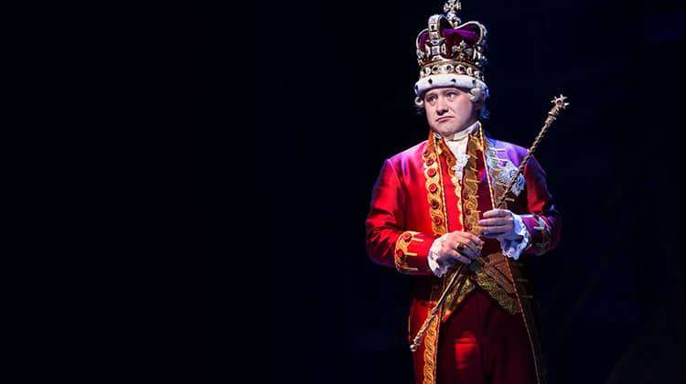 Michael Jibson in Hamilton, Victoria Palace Theatre, London