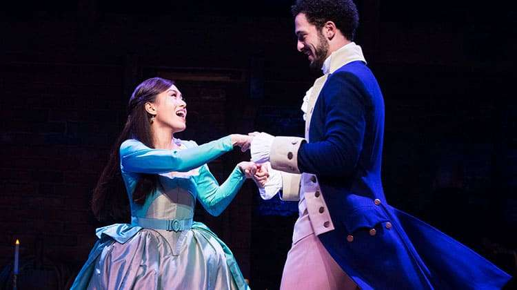 l-r Rachelle Ann Go (Eliza Hamilton) and Jamael Westman (Alexander Hamilton) - Photo Matthew Murphy | Hamilton announces new booking period and on-sale dates