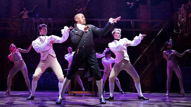 Giles Terera in Hamilton, Victoria Palace Theatre, London