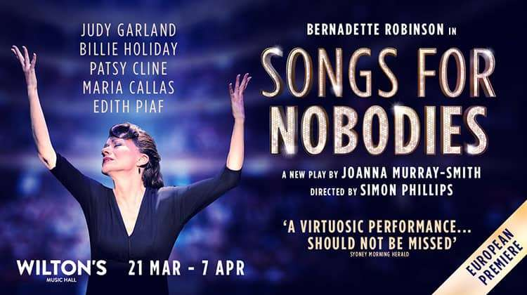 Songs for Nobodies at Wilton's Music Hall, London
