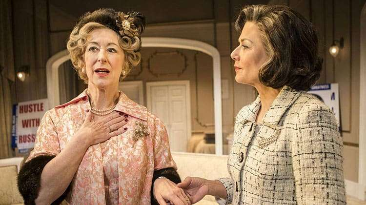 Maureen Lipman and Glynis Barber in 'The Best Man' at Playhouse Theatre.