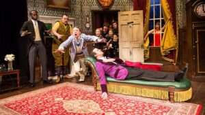 The cast of The Play That Goes Wrong. Photo credit Helen Murray