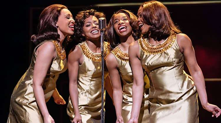 l-r Hannah Jay-Allan, Adrienne Warren, Perola Congo and Sia Kiwa (Tina and the Ikettes)