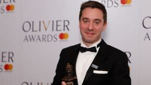 image of James Graham at 2018 Olivier Awards