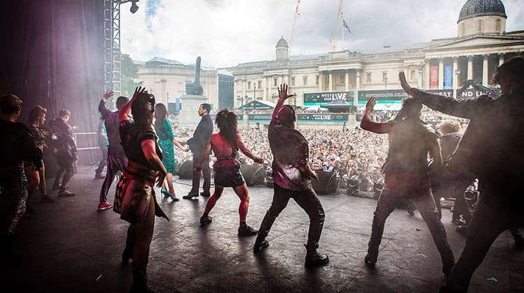 image of Cast of Bat Out Of Hell performing at West End Live 2017
