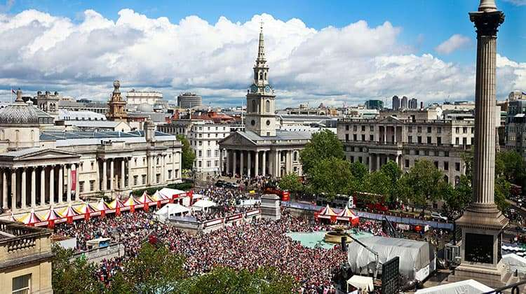 image of Trafalgar Square during West End Live 2017