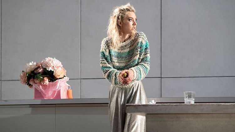 image of Vanessa Kirby as Julie in Julie at the National Theatre