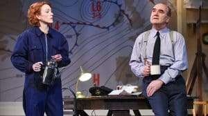 Laura Rogers and David Haig in Pressure