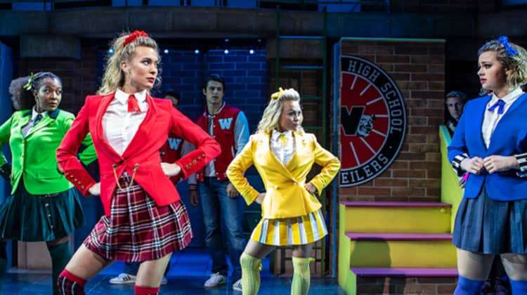 [L-R] T'Shan Williams, Jodie Steele, Sophie Isaacs and Carrie Hope Fletcher in Heathers The Musical