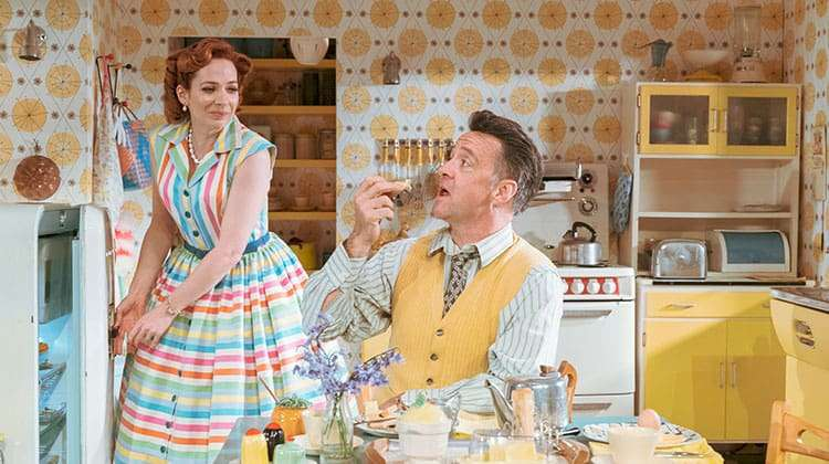 Richard Harrington and Katherine Parkinson in Home, I'm Darling
