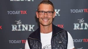 John Partridge at the press night for THE RINK