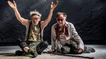 Ian McKellen & Danny Webb in King Lear, Duke of York's Theatre, London