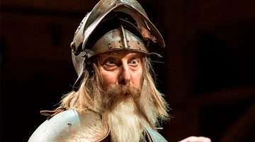 David Threlfall in Don Quixote, RSC 2016.