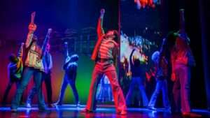 West End cast of Motown the Musical at the Shaftesbury Theatre