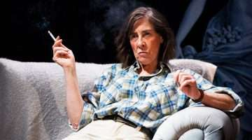 Phyllis Logan as crime writer Patricia Highsmith in Switzerland