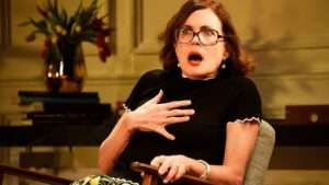 Elizabeth McGovern in God of Carnage, Theatre Royal Bath
