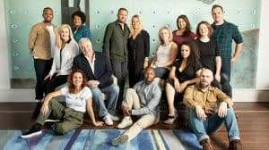 Come From Away cast at launch event, Canada House, London