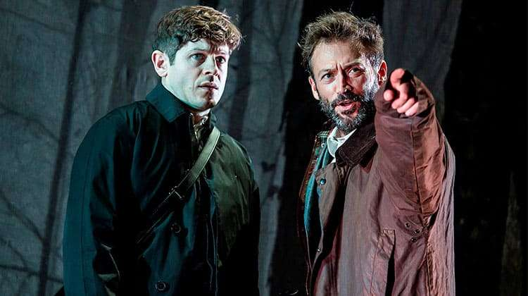 Iwan Rheon and Paul Nicholls in Foxfinder.
