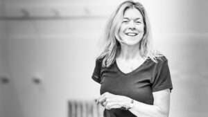 Janie Dee in rehearsals for Pinter Four