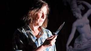 Phyllis Logan as crime writer Patricia Highsmith in Switzerland. Photo. Nobby Clarke