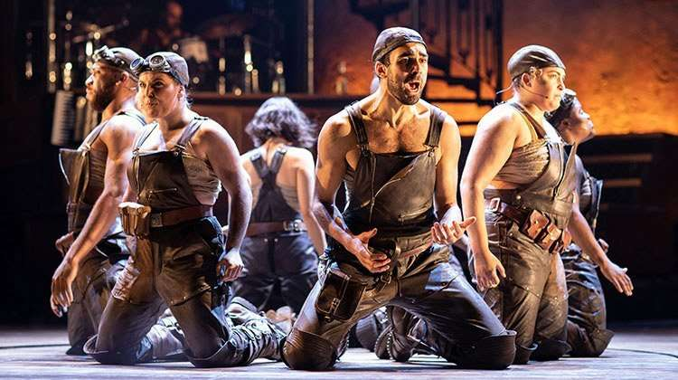 The company of Hadestown at National Theatre