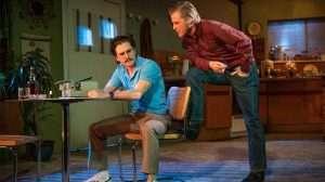Kit Harington & Johnny Flynn in True West. Photo Marc Brenner
