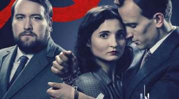 Sean Rigby, Ruby Bentall and Henry Proffit in THE RUBENTSTEIN KISS