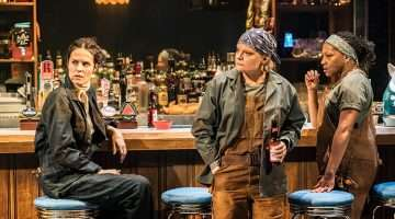 Leanne Best, Martha Plimpton, Clare Perkins in Sweat at the Donmar Warehouse. Photo Johan Persson