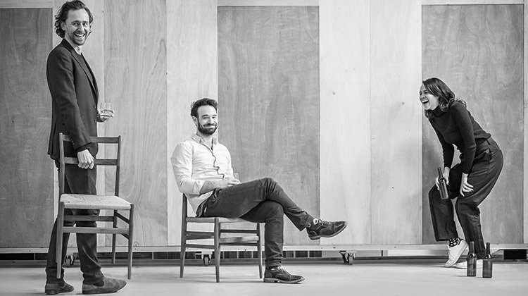 Tom Hiddleston, Charlie Cox & Zawe Ashton in rehearsal for Betrayal.