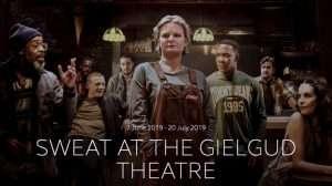 sweat, gielgud theatre london