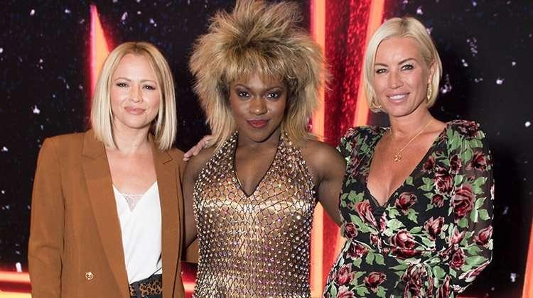 Kimberley Walsh, Nkeki Obi-Melekwe (Tina Turner), & Denise van Outen