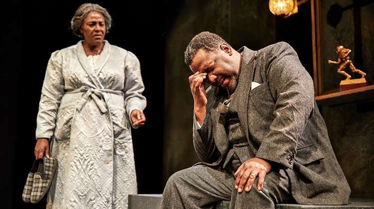 Sharon D Clarke & Wendell Pierce in Death of A Salesman