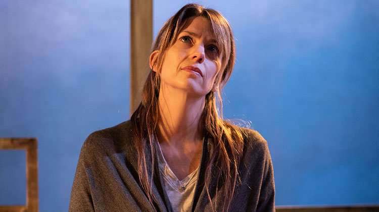 Claire Goose (Thea). Photo Helen Maybanks | 'The Girl Who Fell' review round-up