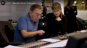 Andrew Lloyd Webber and Taylor Swift in recording studio