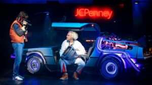 Olly Dobson & Roger Bart in Back To The Future Musical