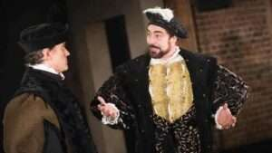 Ben Miles and Nathaniel Parker in Bring Up the Bodies. Photograph: Tristram Kenton
